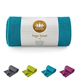 Lotuscrafts Toalla Yoga Antideslizante Grip – Antideslizante y de Secado Rápido – Manta Yoga Antideslizante – Toalla Microfibra Deporte – Toalla de Yoga para Hot Yoga [183 x 61 cm]