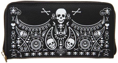 loungefly-portefeuille-bandana-skulls-noir