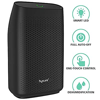 hysure Electric Dehumidifier, Detachable Water Tank, LED Indicator, Automatic, Efficient, Portable, Quiet, No Need Refill