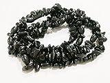 "jennysun2010Natural Gemstone 4–8mm perlas de chip 32""–35"" hematita turquesa malaquita coral 1Strand por bolsa para pulsera collar hacer manualidades diseño curación, Hematite, 4-8mm"