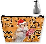 Ancient Egypt Clipart Makeup Bag Große Trapez-Aufbewahrungstasche Reisetasche Portable Wash Kosmetiktasche Bleistifthalter Reißverschluss