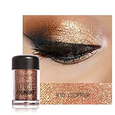 Glitter Eyeshadow Brown,Molie Eye Shadow Makeup Glitter Shimmer Powder Holographic Professional Cosmetic