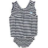 Splash About Mädchen Kinder Float-Anzug, blau (Marine Weiß), L (Groß - 4-6 Jahre)