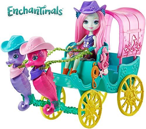 Enchantimals Carroza Caballito de mar, accesorios muñecas (Mattel FKV61)