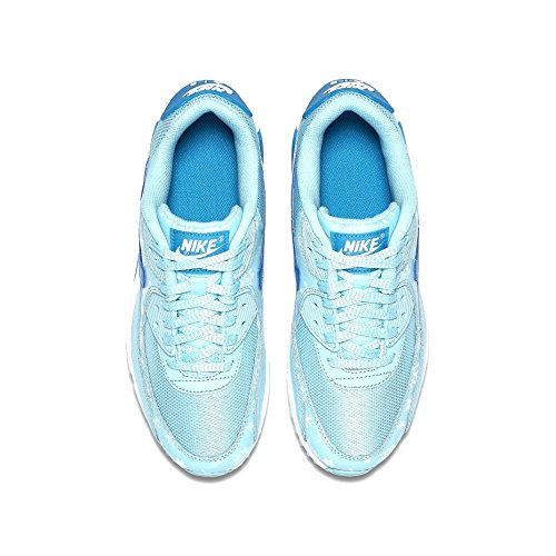 Nike Air Max 90 Prem Mesh Gs, Copa / Laguna-bianco blu, Size Youth 5 COPA/BLUE LAGOON-WHITE