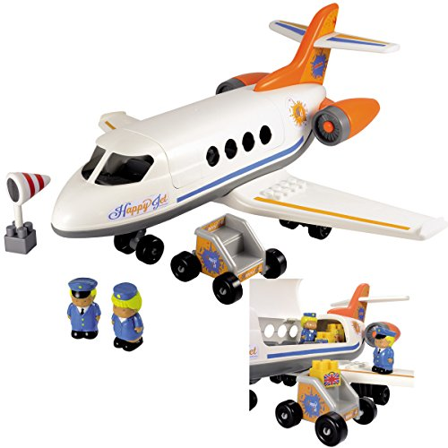 Stewardess Pilot (#11 Passagierflugzeug 48cm Flugzeug Bausteine Kinder Spielzeug Babyspielzeug Pilot Stewardess Zubehör Oberteil zu Öffnen Kunststoff Ferienflieger Jet Bauset Figuren Jumbo Jumbojet Airlines Zubehör)