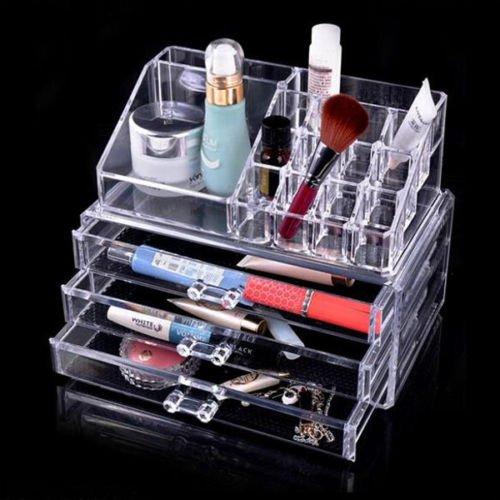 Generic Yc-uk2–151106–3 < 1 & 5044 * 1 > Stockage Acrylique DR Acrylique Transparent/Maquillage/Les Grilles de tiroirs Boîte de Rangement pour Écran 3 Stockage Maquillage Cosm