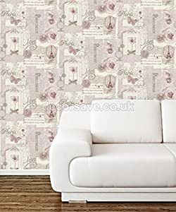 Arthouse VIP Felicity Floral Pattern Paris Silver Butterfly Motif Wallpaper from Arthouse