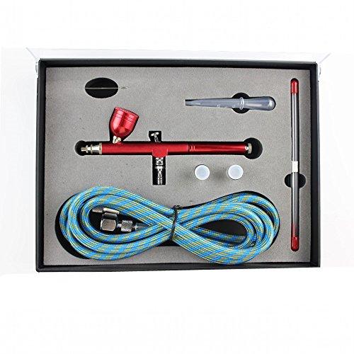 Spray Gun Hobby (Abest New Professional 0,2mm \ 0,3\ 0,5mm Dual-Action Airbrush Spray Gun Kit Komplett Set mit Schlauch, Düse, Nadel für Modell, Hobby)