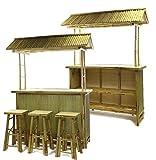 4 tlg. Bambus Bar Tiki Bar Bamboo Outdoor Garten Hocker Karibik