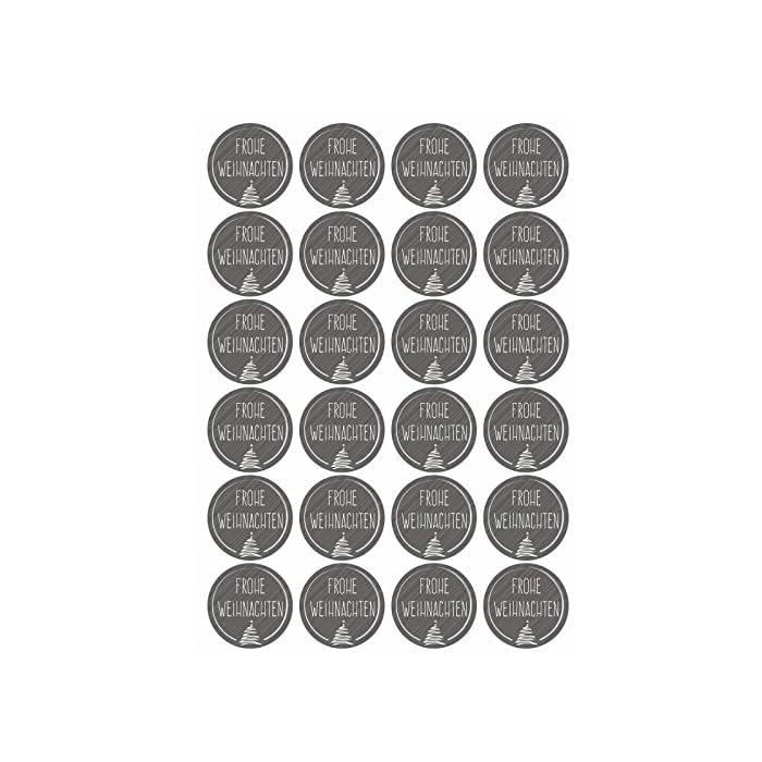 24 Adventskalender Kraftpapiertüten mit 24 Zahlen-Aufklebern Bunte Sterne zum Verschließen für den Adventskalender zum…