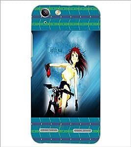 PrintDhaba Cycling Girl D-4592 Back Case Cover for LENOVO LEMON 3 (Multi-Coloured)
