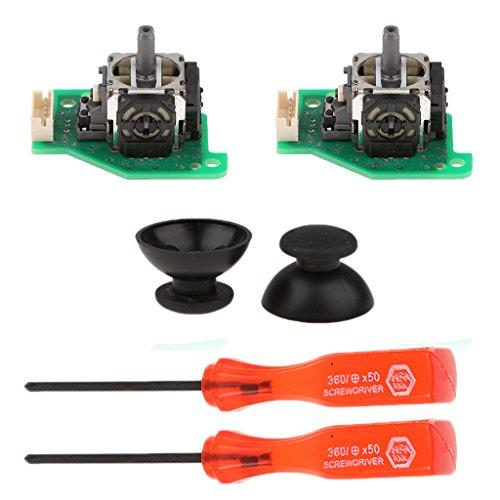 Preisvergleich Produktbild Gazechimp Reparatur Kit für Wii U Spielecontroller Joystick Thumbsticks mit analoge Stick PCB Kappen und 2x Schraubendreher