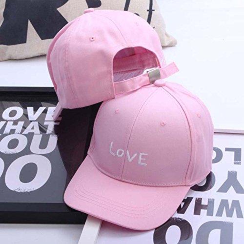 ZXCV Afflux de femmes Sun Lettres Chapeau Baseball Cap Outdoor Hip-hop Cap Lovers Chapeau Cap Jeunesse Curved Eaves ( couleur : Noir ) Rose
