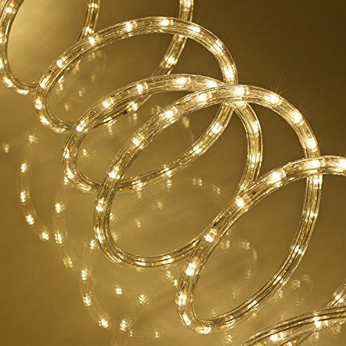 144er LED Lichterschlauch außen warmweiß 230V Lights4fun