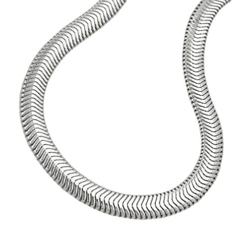 Chain necklace round snake 925 sterling necklace pendant chain width 4 mm different lengths, chain length:45 cm. 17.71 inch