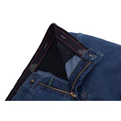 Club of Comfort mittelblaue Jeans Liam Übergröße Blau