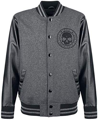 R.E.D. by EMP Skull College Jacket Giacca college nero XXL