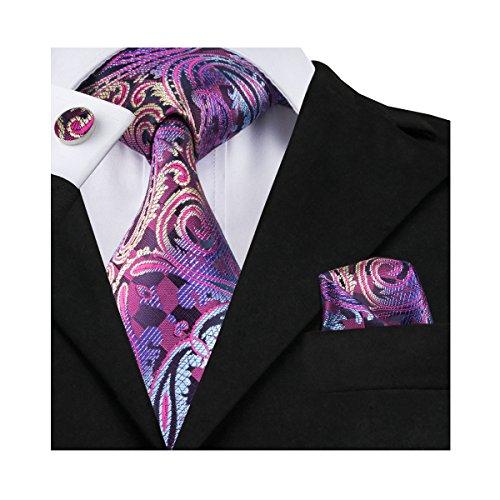 Paisley Mode (Hi-Tie Neue Mode Paisley Krawatte Set gewebt)