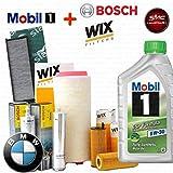 Kit tagliando olio MOBIL 1 ESP 5W30 6LT 4 FILTRI VARI (WL7303, F026402085, WA6573, V3701)