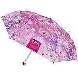 Emoji Einhorn Schirm - Regenschirm mit den Offiziellen Emojis von Whatsapp - Taschenschirm mit Einhorn und Smiley Motiven - manuelle Öffnung - Perletti