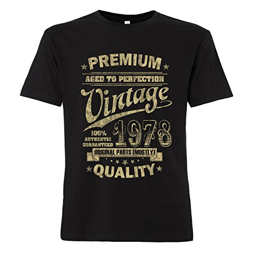 ShirtWorld - Aged to Perfection 1978 zum 40. Geburtstag - T-Shirt 3XL (Geburtstag Mann, T-shirt)