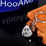 HooAMI Memorial Jewellery Stainless Steel Dog Footprint Cremation Urn Ashes Keepsake Pendant Keychain Keyring, Normal 13