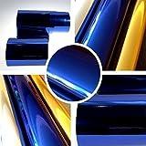 Chrom 3D Flex Folie Blau BLASENFREI 0,3m x 1,52m mit Luftkanäle