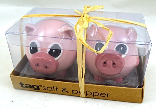 TAG Pink Piggies Salt and Pepper Shaker Set by Tag