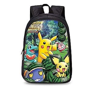 Backpack Mochila para Niños para Niños Pokemon Kinder Schoolbags Mochila 3D (Mochila De Doble Capa De 35 Cm) 10