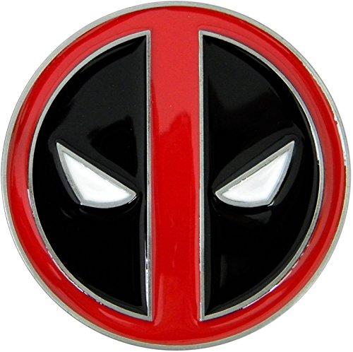 Bd Store Men's Deadpool Die Cast Chrome Finish Enameled Belt Buckle