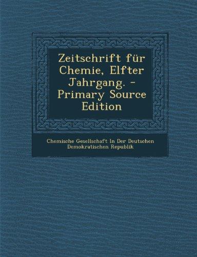 Zeitschrift Fur Chemie, Elfter Jahrgang.