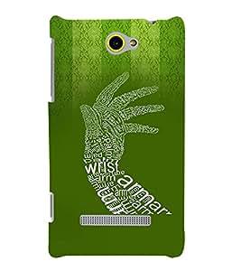 Fuson Premium Wrist Printed Hard Plastic Back Case Cover for HTC Windows Phone 8S