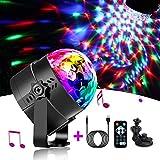 Sfera da discoteca, illuminazione notturna, 7 colori, Bmodes, effetti di luce per Natale, bambini, compleanno, camera da letto, Multicolore , Discokugel USB