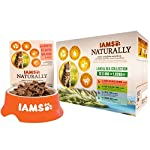 Iams Naturally Complete Land & Sea Collection Adult Cat Food Pouches, 12x85g 16