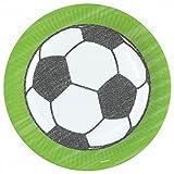 Party Palast Party Dekoration große Teller Fußball Weltmeisterschaft Feier 8 Stück, 23cm, Mehrfarbig