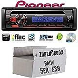BMW 5er E39 - Autoradio Radio Pioneer DEH-S110UBB - CD | MP3 | USB | Android Einbauzubehör - Einbauset