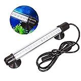 ueetek Wasserdicht 3Farben-LED-Licht Unterwasser Wasserdicht Aquarium Fisch Tank Licht Absaug-Soundbar-Leiste Lampe mit ue-plug, 18cm
