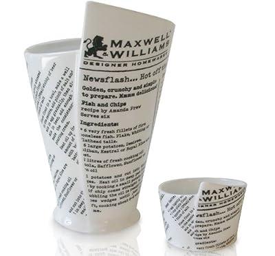 Maxwell Williams Coupelles pour sauce ou frites Motif papier journal