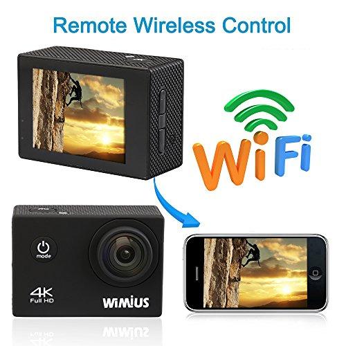 Wimius-4K-Action-Cam-WIFI-WebCamera-Full-HD-1080P-16MP-Impermeabile-Sport-Camera-170--Grandangolare-20-Schermo-LCD-con-Vari-Accessori