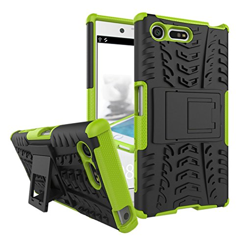 AIBULO® Sony Xperia X Compact Hülle TPU Case Schutzhülle Silikon Crystal Case für Sony Xperia X Compact (grün)