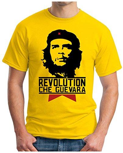 OM3 CHE GUEVARA - T-Shirt Cuba Revolution Hasta la Victoria Siempre Fidel Castro Rum Cigars, S - 5XL Gelb