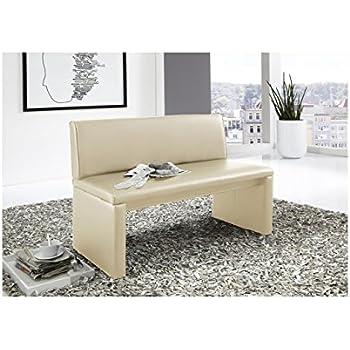 sam esszimmer sitzbank 100 cm breite in creme sitzbank mit r ckenlehne aus samolux bezug. Black Bedroom Furniture Sets. Home Design Ideas