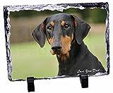 Doberman Pinscher 'Love Sie Dad'Weihnachtsgeschenk, Tier-Foto auf Schieferplatte