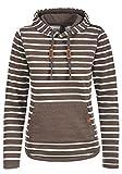 BlendShe Carina Damen Hoodie Kapuzenpullover Pullover Mit Kapuze, Größe:M, Farbe:Mocca Mix (70816)