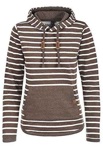 BlendShe Carina Damen Hoodie Kapuzenpullover Pullover Mit Kapuze, Größe:L, Farbe:Mocca Mix (70816) (Sexy Damen Leder Jacken)