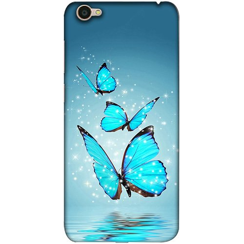 Casotec Flying Butterflies Design 3D Printed Hard Back Case Cover for Vivo Y55L