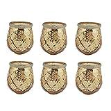 Set di 6 Lanterne Mix di tutti e 6 i colori Vetro Tealight Ø Esterno 8,2 x 11,5 cm Supporto per lampada a vento Vetro di candela Set di luci a vento Vaso in vetro Vetro antivento Lanterna Candela di v