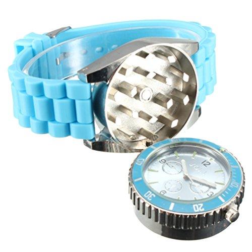 TANKACE Multifunktionale Uhr Legierung Armbanduhr Kräuter Gewürz Grinder in 4 Farben erhältlich (Vier Grinder)