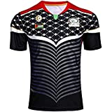 Palestine Maillot Football Noir - Rouge - Or t Shirt Maillot - L -